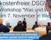 Beitragsbild Kostenfreier DSGVO Workshop Was und Wie der SEC4YOU am 7 November 2017