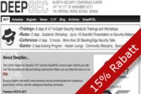 15% Rabatt durch SEC4YOU für die DEEPSEC 2017