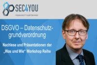 Beitragsbild SEC4YOU DSGVO Workshops