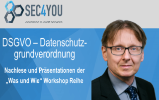 Beitragsbild SEC4YOU DSGVO Workshops
