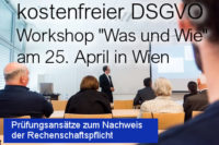 DSGVO Workshop am 25. April 2018 - DSGVO Audits