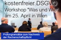 DSGVO Workshop am 25. April 2018 - DSGVO Audits