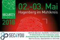 FH Hagenberg Security Forum - SEC4YOU Sponsor, Aussteller, Referent