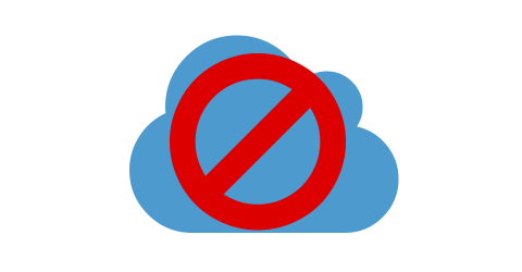 Cloud verboten