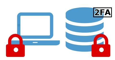 Speicherung Notebook verschlüsselt Server verschlüsselt mit 2FA